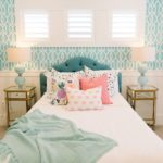 coral turquoise home decor