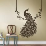 home decor peacock feather wall sticker