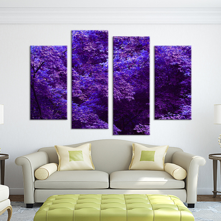 purple peacock home decor