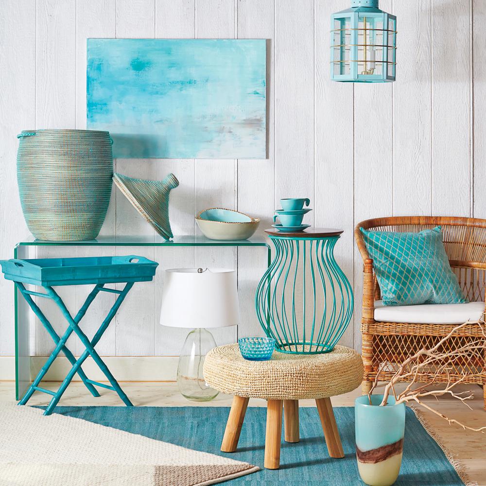 turquoise blue home decor