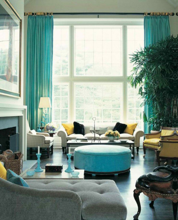 turquoise color home decor