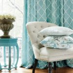turquoise home decor fabric