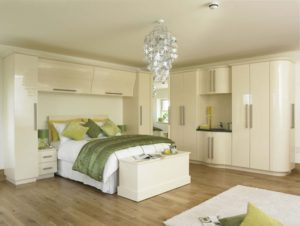 white built in bedroom cupboards