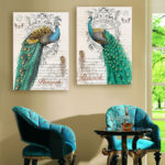 white peacock home decor