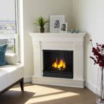 Corner Fireplace Ideas with Classic Embellishment