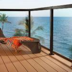 aluminum and glass deck railing