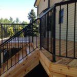 aluminum deck railing black