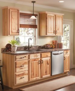 amish hickory kitchen cabinets