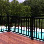 anodized aluminum deck railing
