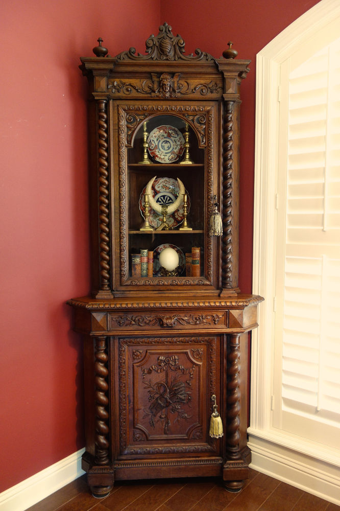 Amazing Living Room Cabinet Designs Antique Showcase Using: Tall Corner Cabinet For Your Living Room