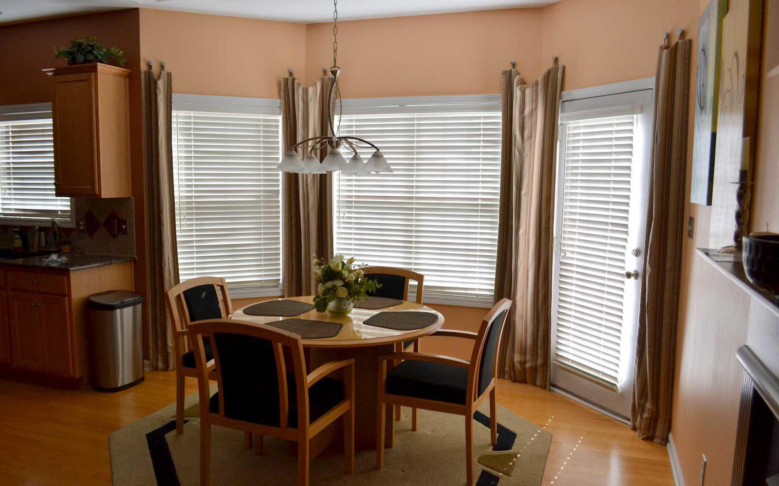 arched dining room window treatments