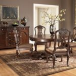ashley round pedestal dining table