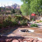 backyard deck fire pit