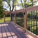 best aluminum deck railing
