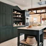 black upper kitchen cabinets