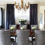 Elegant Solid Color Dining Room Curtain Ideas
