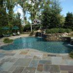 bluestone patio around pool