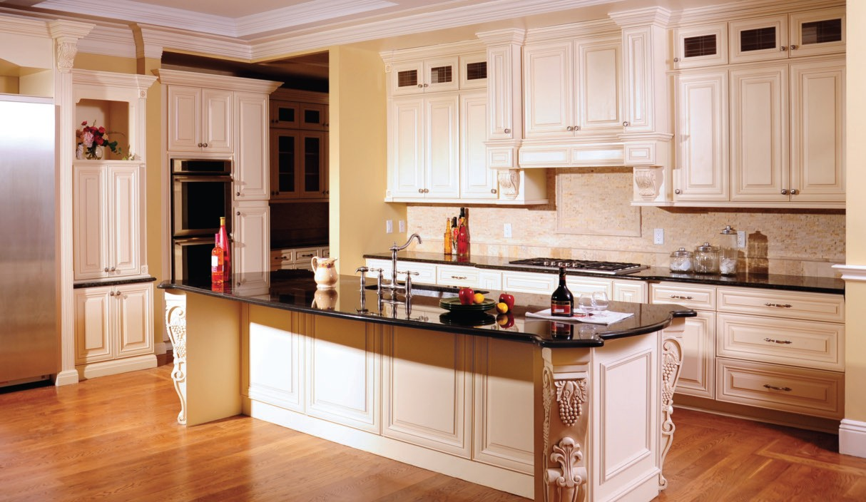buttercream kitchen cabinets