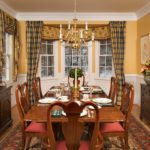 contemporary dining room window treatments