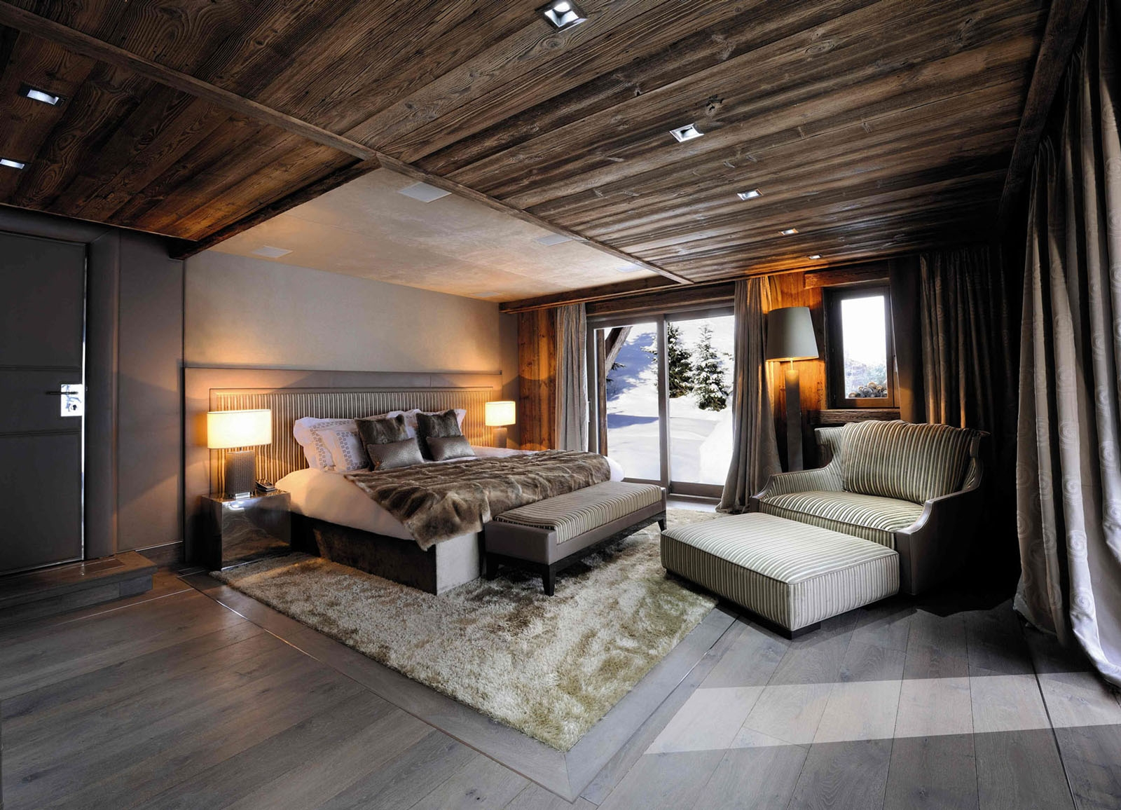 Chic Modern Rustic Chalet In The Rhne Alpes Idesignarch intended for Incredible along with Lovely rustic master bedroom for Your own home