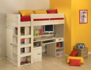 cool bunk beds desk