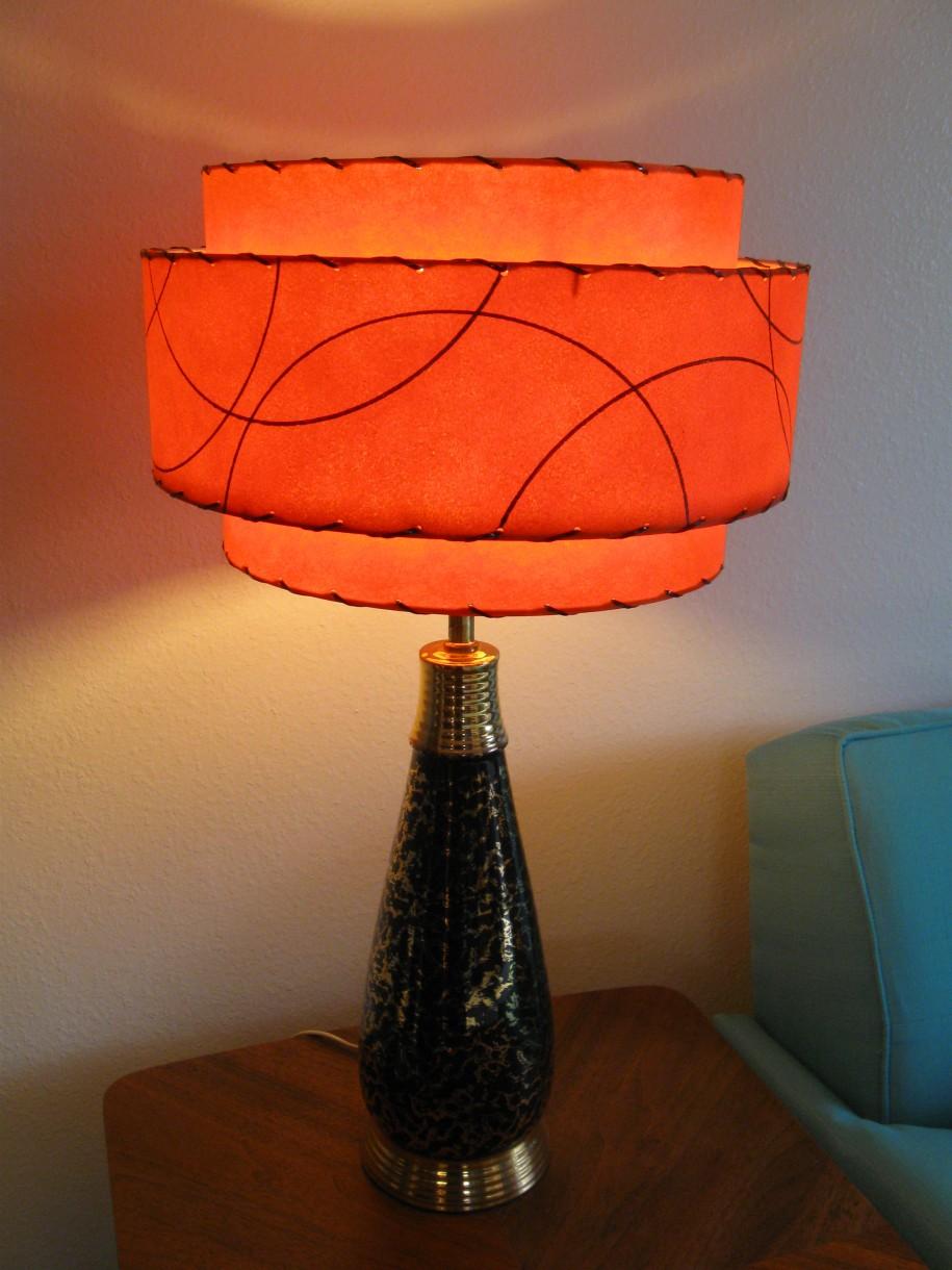 coral orange lamp shade