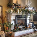 country fireplace decorating ideas