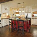 cream distressed kitchen cabinets