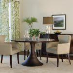 cream round pedestal dining table