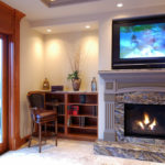 decorating ideas above fireplace