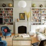 design ideas for living room shelves
