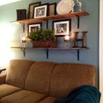 design of shelves for living room