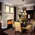 dining room fireplace decorating ideas