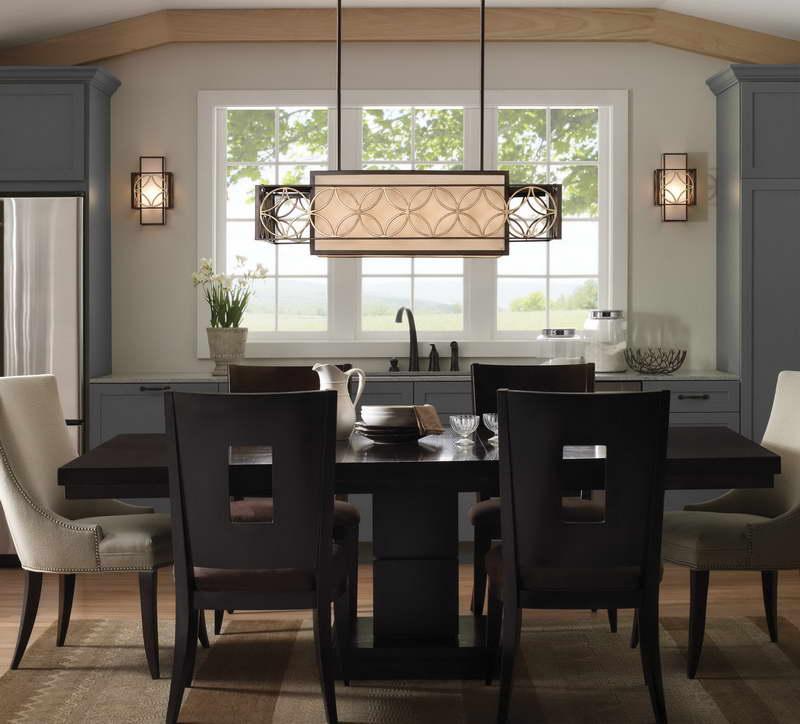dining room light installation
