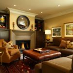 family room ideas with brown couch