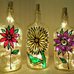 faux stained glass lamp shades
