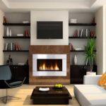 fireplace bookshelf decorating ideas