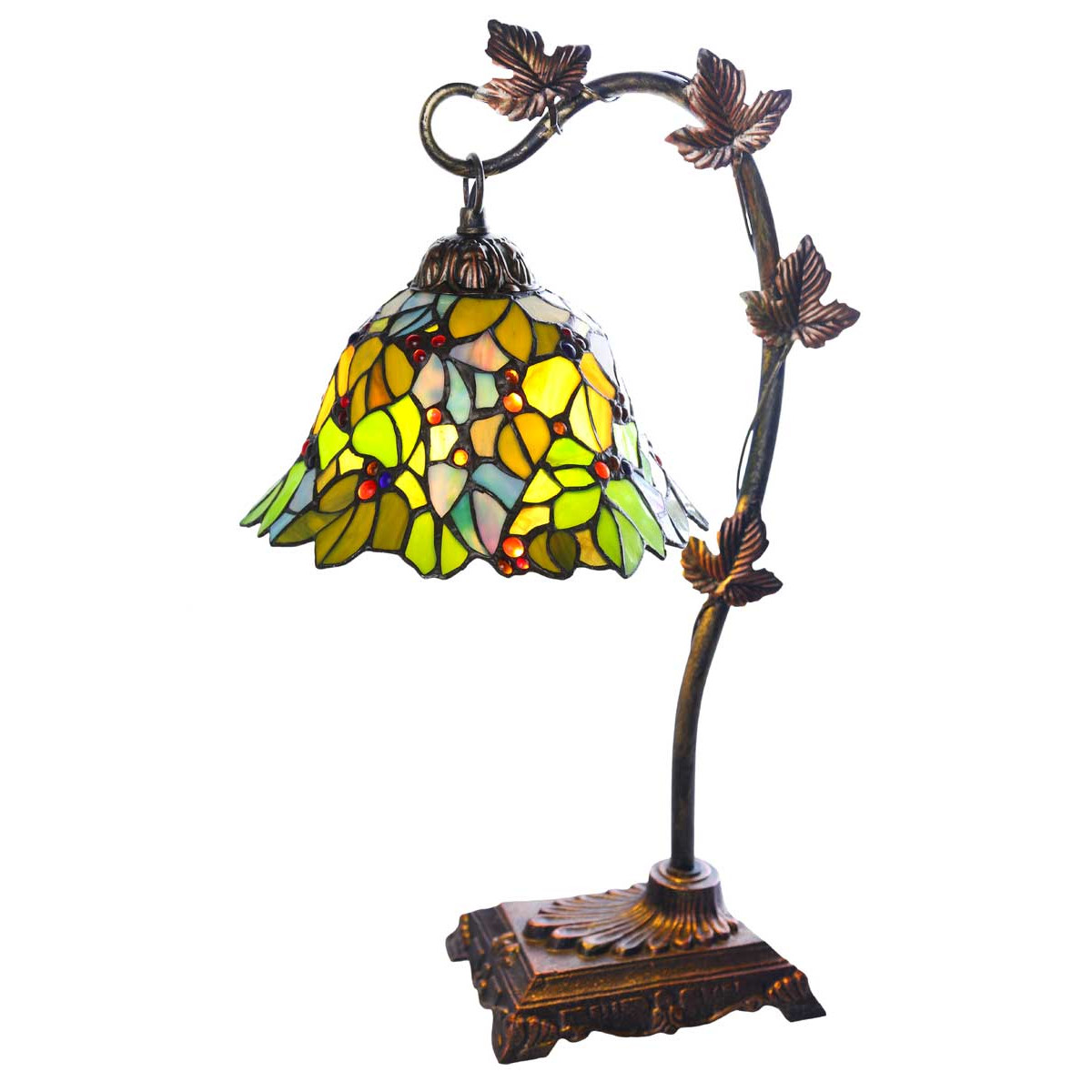 floral stained glass lamp shades