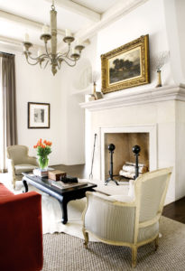 french country fireplace decorating