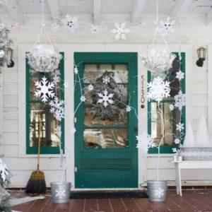 front door glass decorations