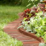 garden edging ideas brick