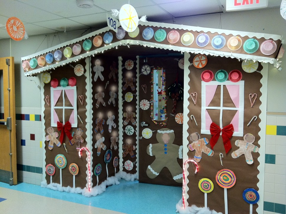 gingerbread house bulletin board ideas