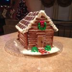 gingerbread house log cabin ideas