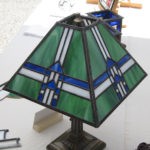 green stained glass lamp shade