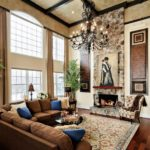 high ceiling fireplace decorating ideas