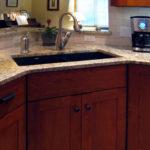 kitchen base cabinet corner sink