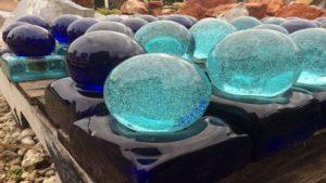 landscape glass boulders