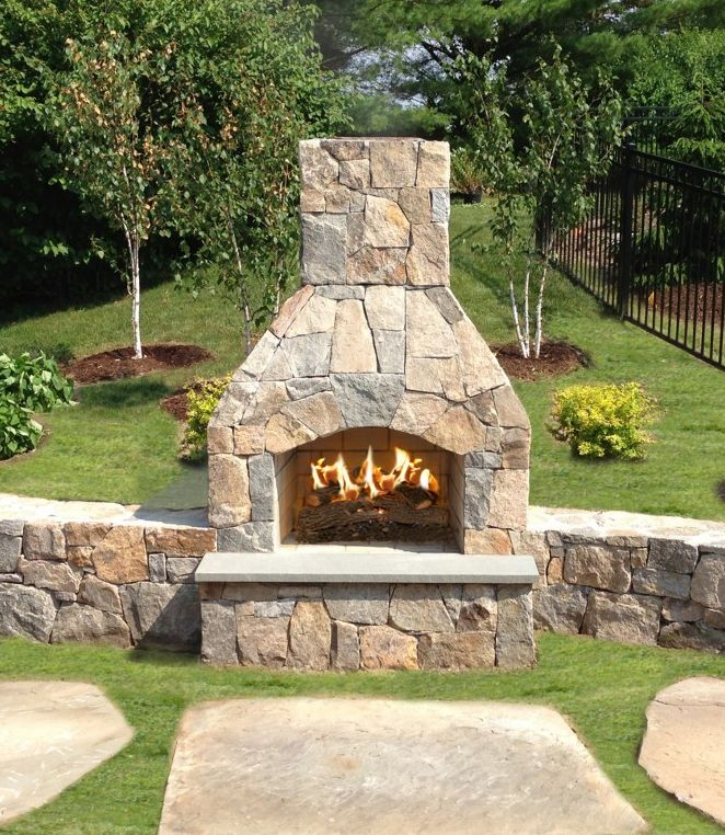large outdoor fireplace kits