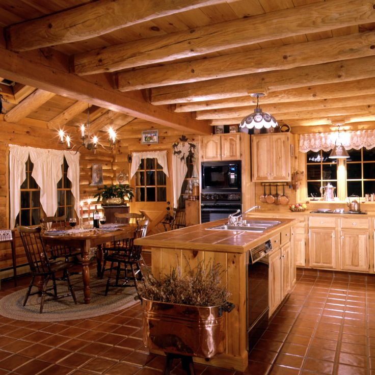 log home kitchen decorating ideas