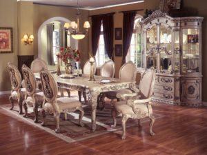 mahogany formal dining room set